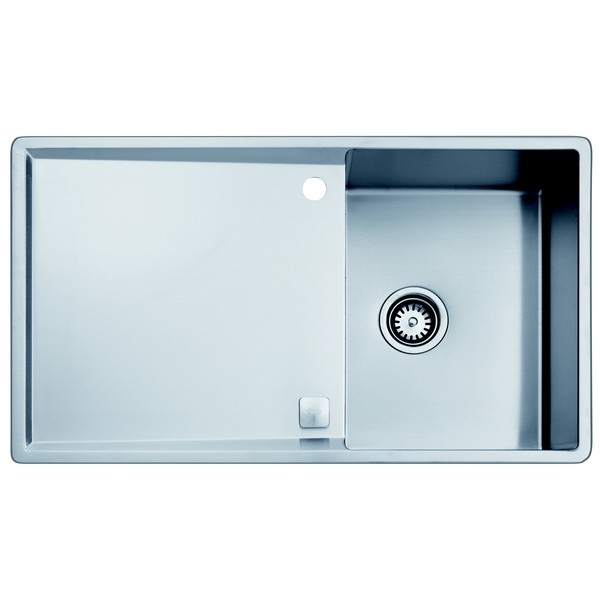 Evier inox satin teka radea 1c1e teka top neocentre for Evier inox design