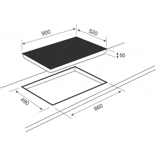 Plaque induction 90 cm plaque induction 90 cm sur - Table de cuisson gaz 90 cm ...