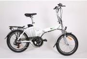 Vélo électrique pliant 20 pouces Blanc