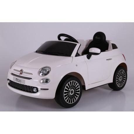 Véhicule électrique blanc FIAT 500