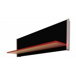Etagère noire lumineuse LED multicolore 600mm