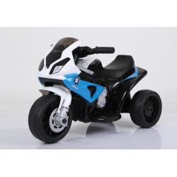Moto électrique MINI BMW 3 roues bleue