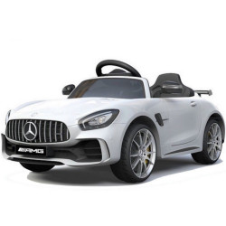 Véhicule électrique blanc MERCEDES BENZ AMG GT