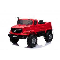 Camion électrique rouge MERCEDES BENZ ZETROS 2 places
