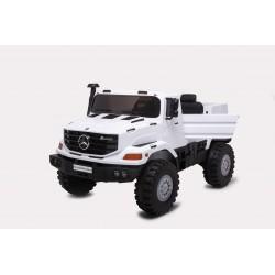 Camion électrique blanc MERCEDES BENZ Big ZETROS