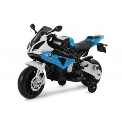 Moto électrique bleue BMW S1000RR