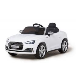 Véhicule électrique blanc AUDI S5