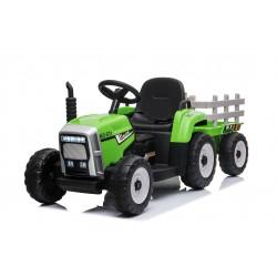 Tracteur électrique vert FAST AND BABY