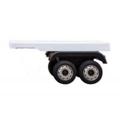 Remorque blanche pour camion MERCEDES BENZ ACTROS