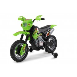 Moto électrique verte FAST AND BABY