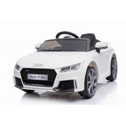 Voiture électrique AUDI TTRS blanc